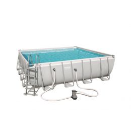 Piscine carrée Power Steel 488 x 488 x 122 cm
