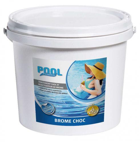 Brome choc en granule de 5 kg pour traitement piscine