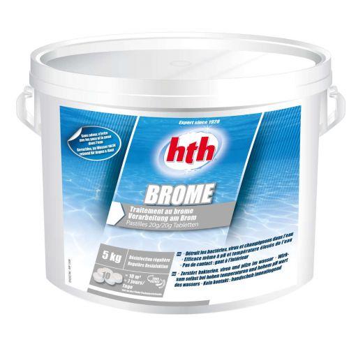 Traitement de piscine et spa au brome en pastille de 20g - traitement de l'eau