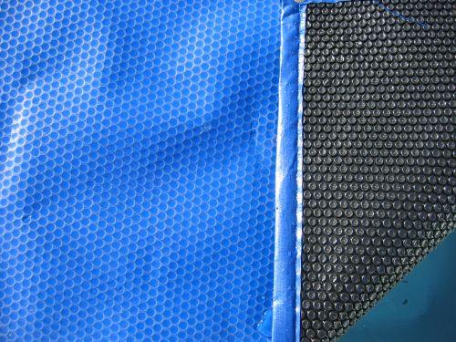 Bâche à bulles piscine Bleu et Noir 4 côtés renforcés