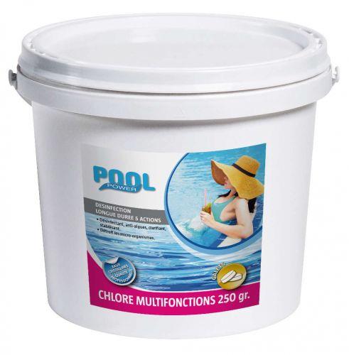 Chlore multifonctions galet de 250g - traitement de l'eau
