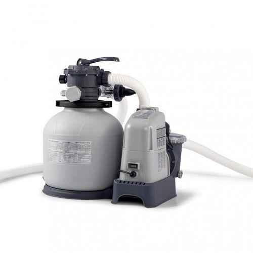 Platine de filtration piscine Intex 6m³/h avec ecostérilisateur intégré