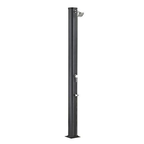 Douche solaire noire design en aluminium 32 litres avec rince pieds intégré