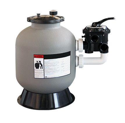 Filtre à sable pour filtration de piscine side 600 mm avec vanne 6 voies