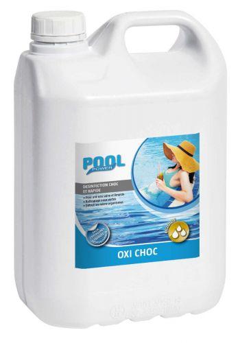Oxygène actif choc liquide 5L pour rattraper une eau verte