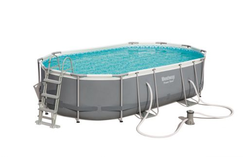 Piscine hors-sol tubulaire ovale bestway