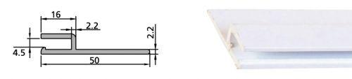 Rails d'accrochage en PVC de liner piscine