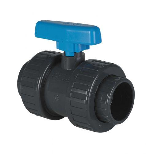Vanne à bille en pvc diamètre 50 mm pour filtration de piscine
