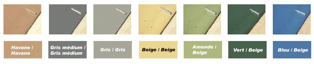 Coloris disponibles bâche à barres