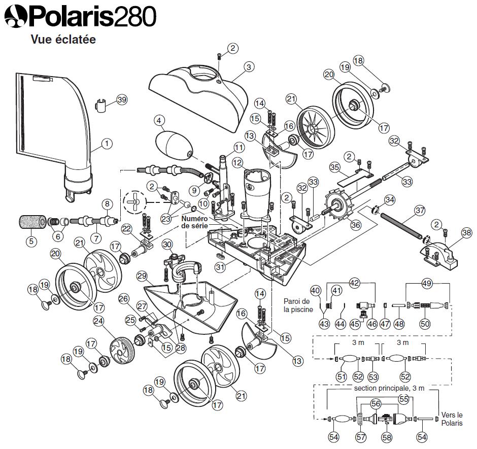 Pièces détachées robot Polaris 280