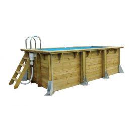 Piscine rectangulaire en bois Azura 200 x 350 x 71 cm