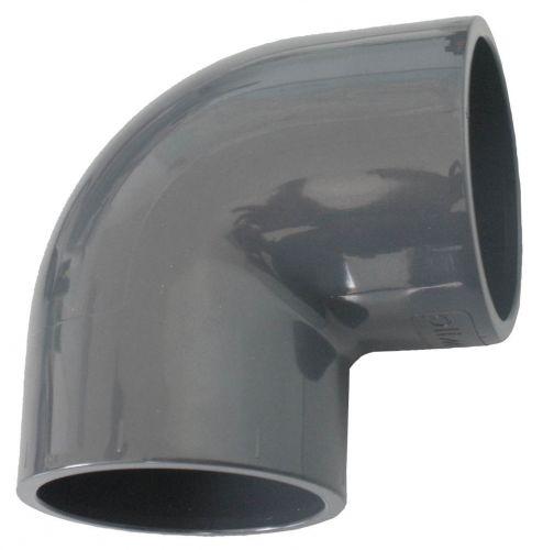 Coude pvc à 90° pour raccord de tuyau de piscine diamètre 63 mm