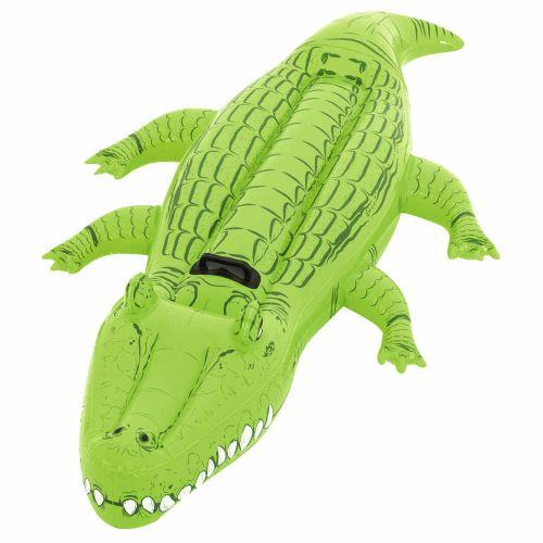 Bouée gonflable crocodile avec poignées pour piscine