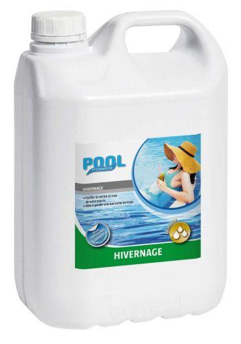 Produit d'hivernage pour piscine qui reste en eau durant l'hiver.