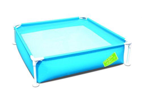 Piscinette bestaway carrée bleu pour enfant