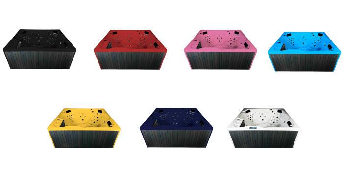 spa préfabriqué de qualité en 7 couleurs
